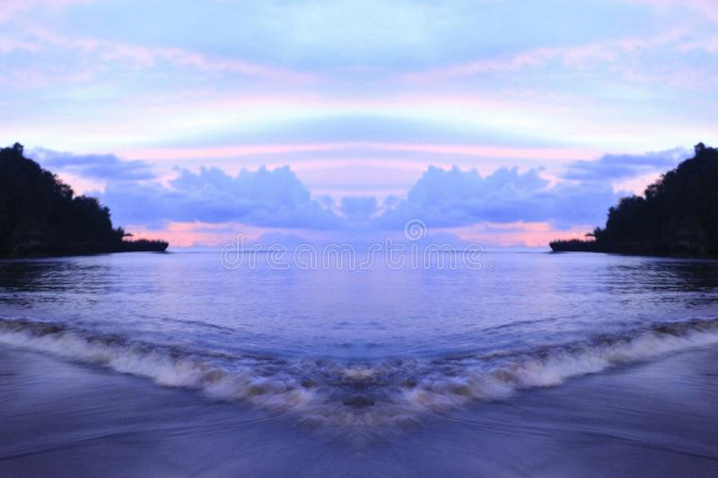 plage d'anyer photographie stock