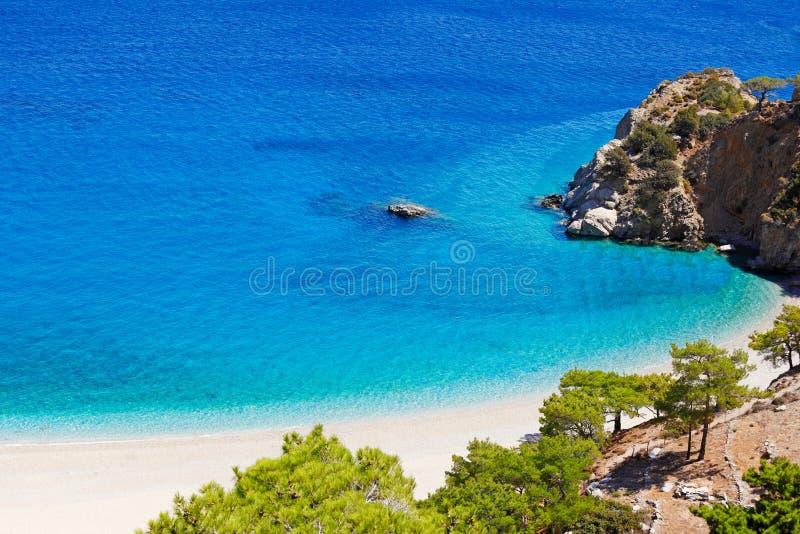 Plage d'Apella de Karpathos, Grèce image libre de droits