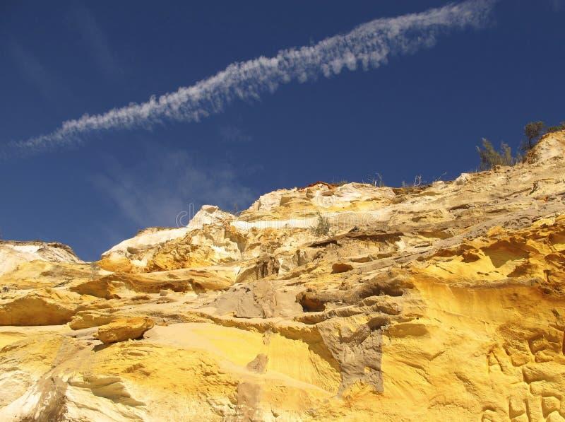 Plage d'arc-en-ciel, Queensland, Australie photos libres de droits