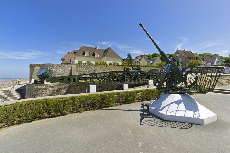 Plage d'Arromanches image stock