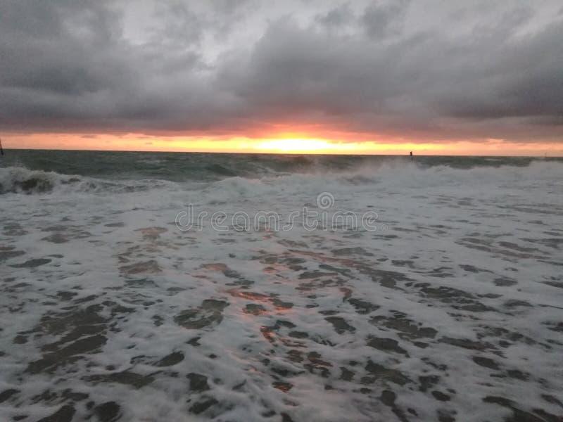 Plage d'Englewood la Floride au coucher du soleil photos stock