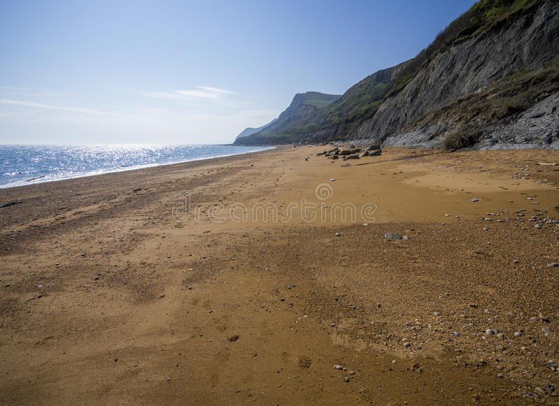 Plage d'Eype dans Dorset photo stock