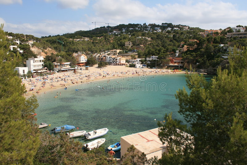 Plage d'Ibiza photographie stock