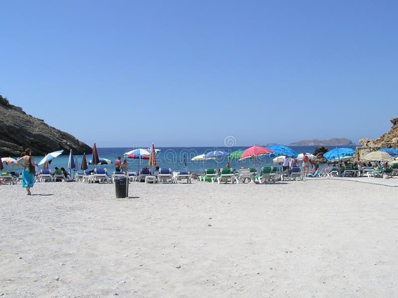 Plage d'Ibiza images libres de droits