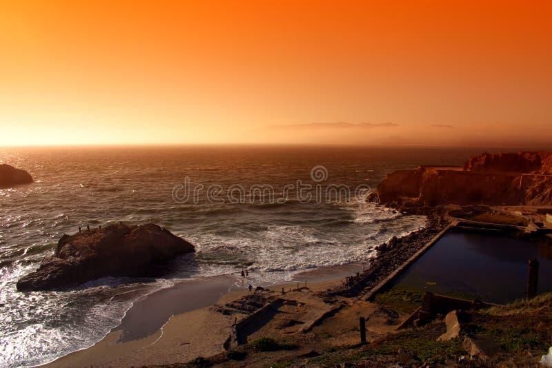 Plage d'océan, San Francisco photographie stock libre de droits