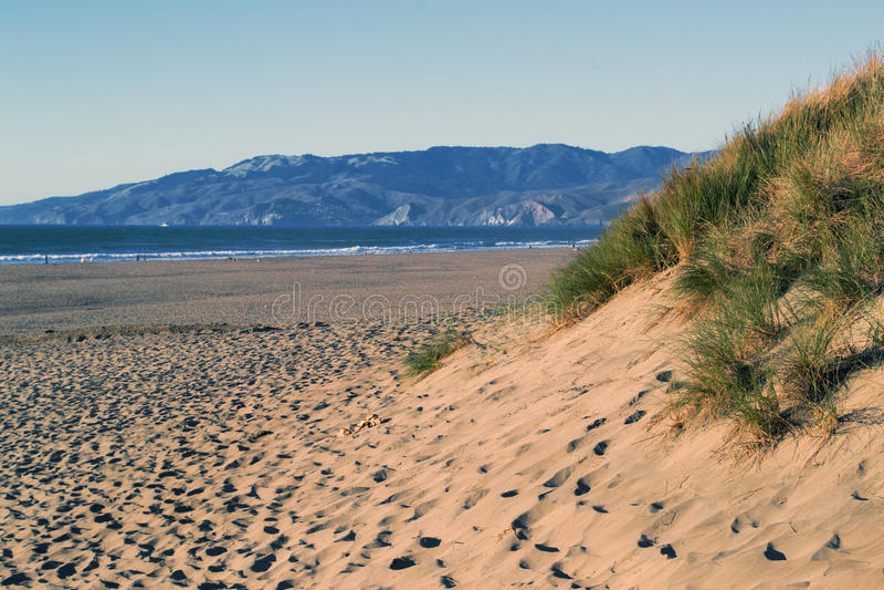 Plage d'océan, San Francisco, la Californie image stock