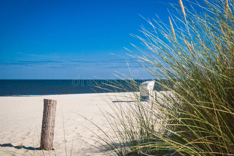 Plage d'Usedom image stock