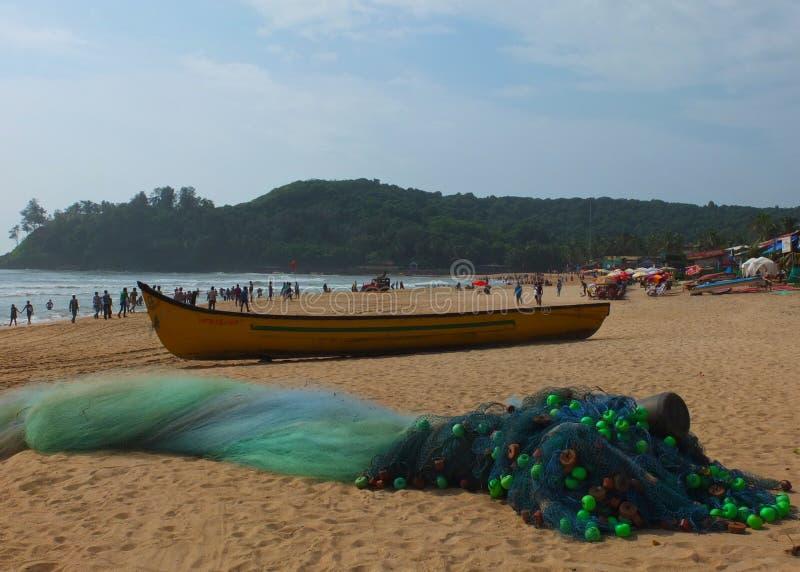 Plage dans Goa photographie stock libre de droits