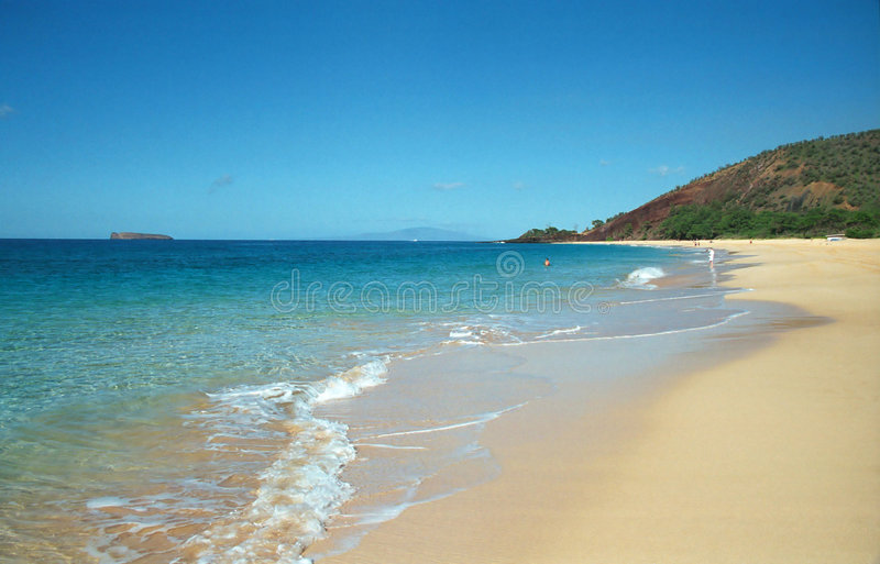 Plage dans Maui, Hawaï photographie stock