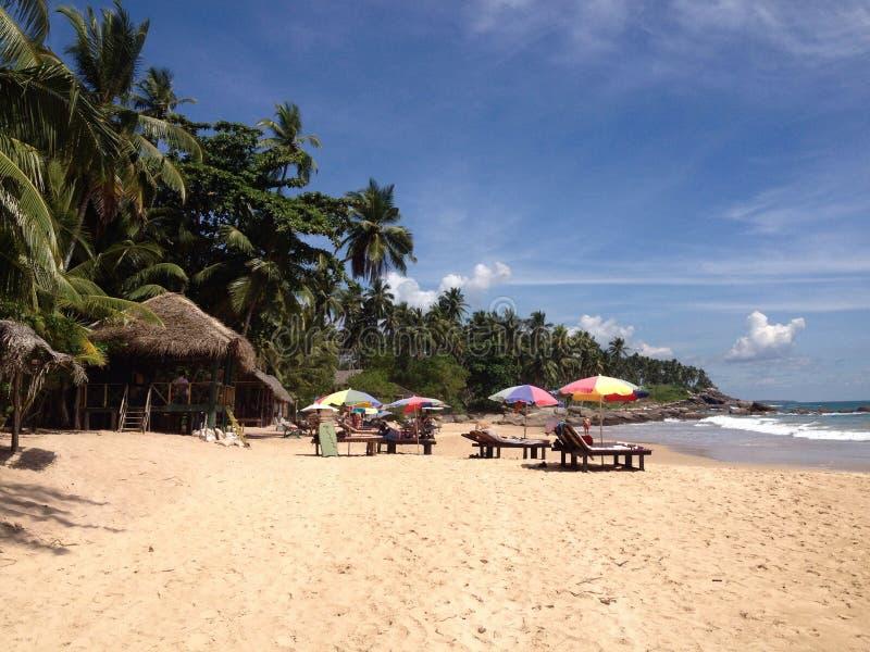 Plage dans Sri Lanka photographie stock