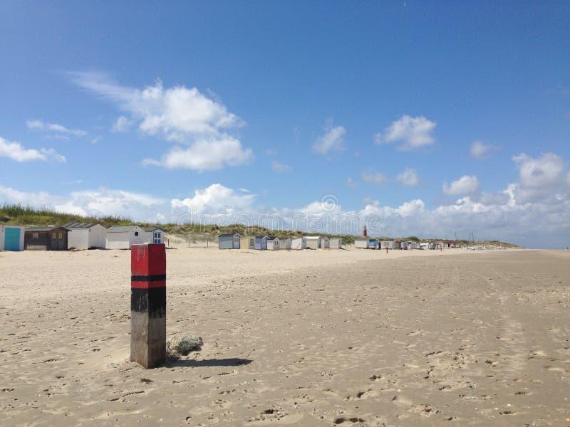 Plage dans Texel image libre de droits