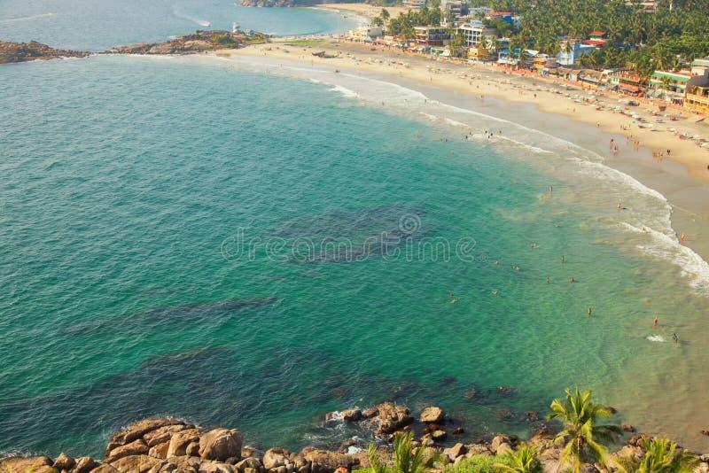 Plage dans Thiruvananthapuram image libre de droits