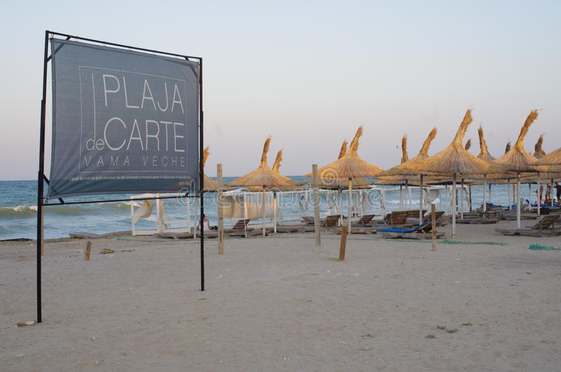 Plage dans Vama Veche en Roumanie photo stock