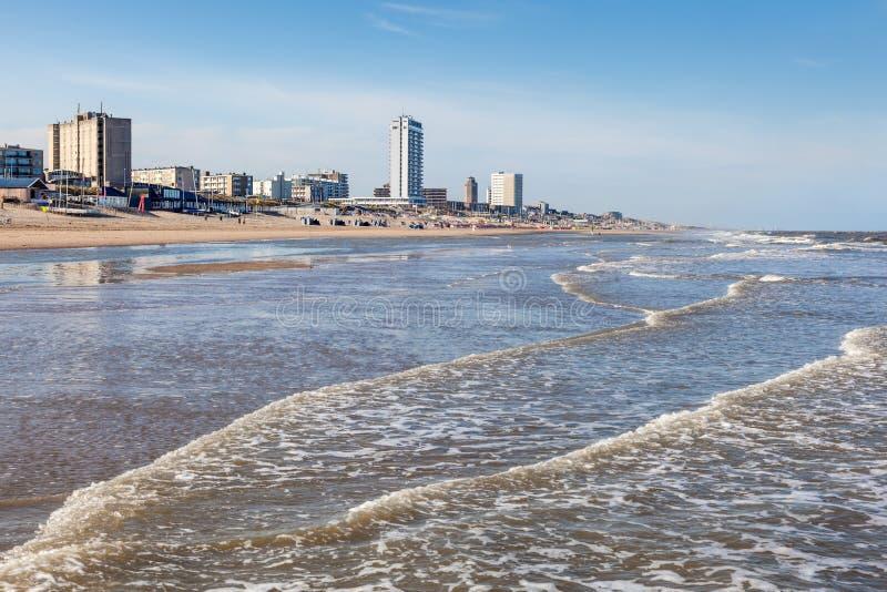 Plage dans Zandvoort, Pays-Bas image stock