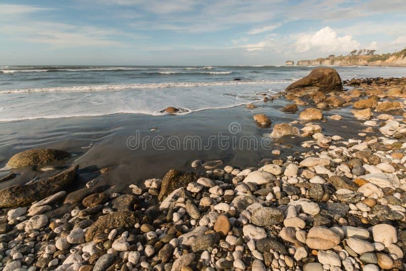 Plage de baie de Buller sur la côte ouest du Nouvelle-Zélande photo libre de droits