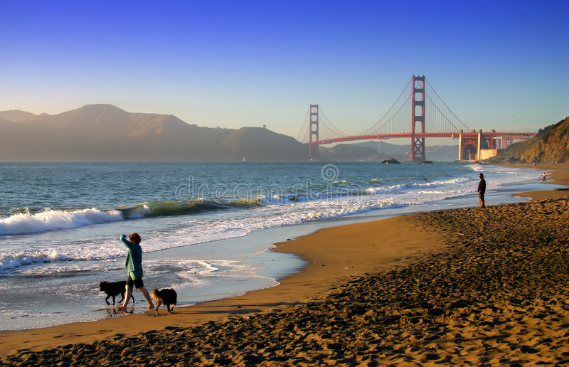 Plage de Baker, San Francisco images stock