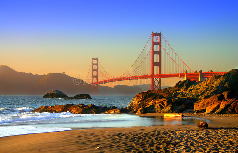 Plage de Baker, San Francisco photographie stock libre de droits