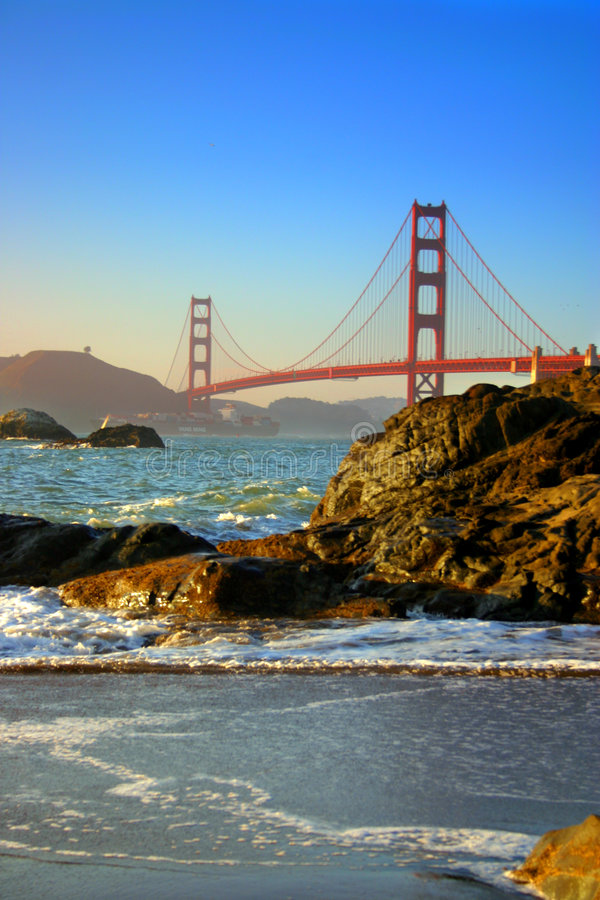 Plage de Baker, San Francisco image stock