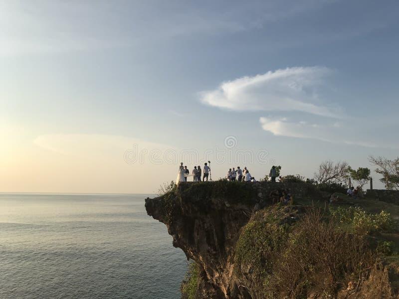 Plage de Bali pour des surfers photographie stock