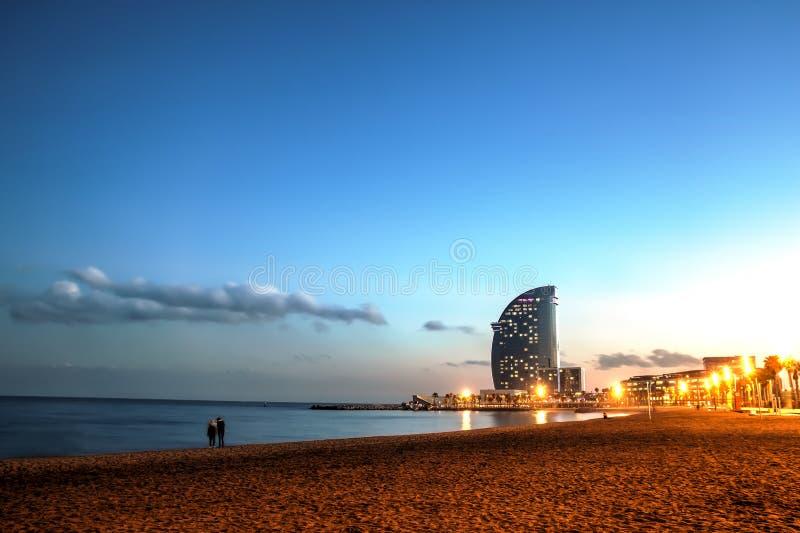 Plage de Barceloneta, Espagne images stock