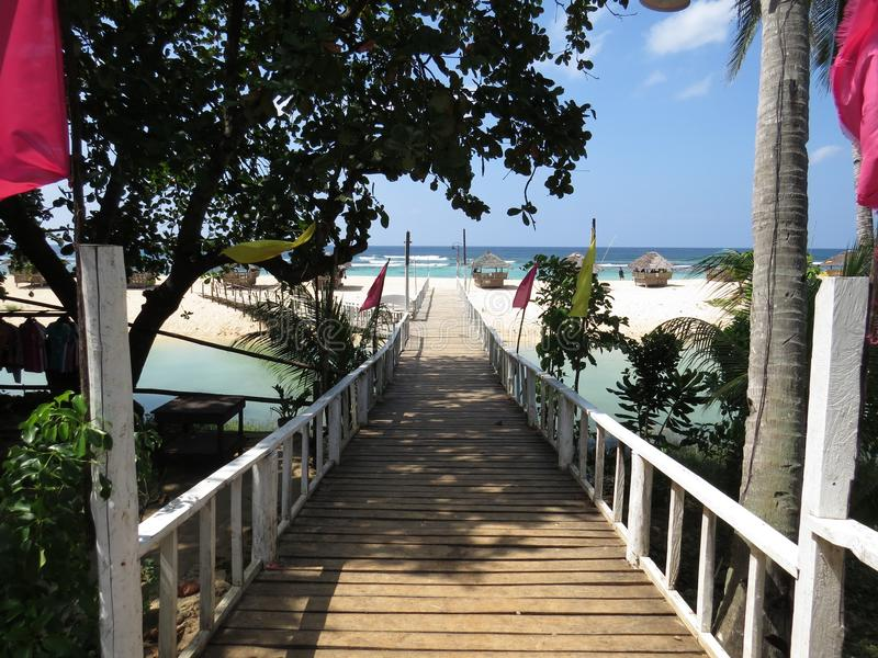 Plage de Bolinao images stock