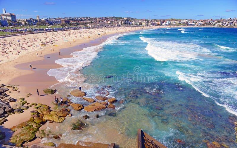 Plage de Bondi, Sydney Australia image stock