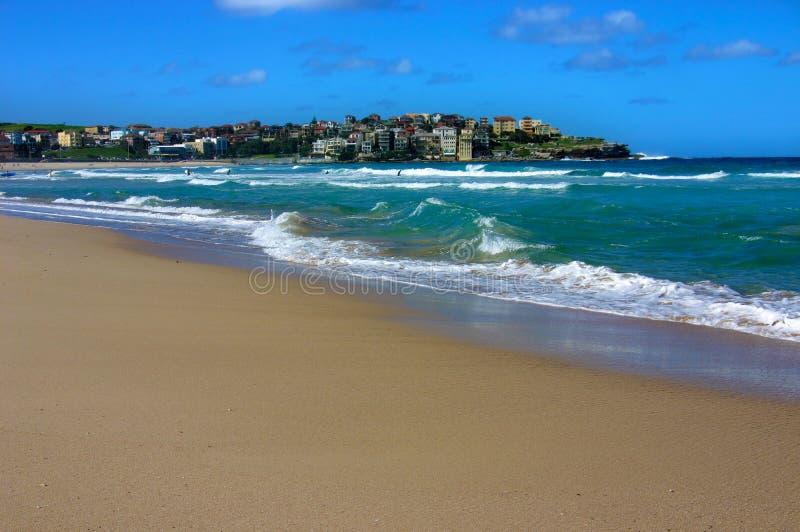 Plage de Bondi, Sydney, Australie, l'espace de copie photographie stock