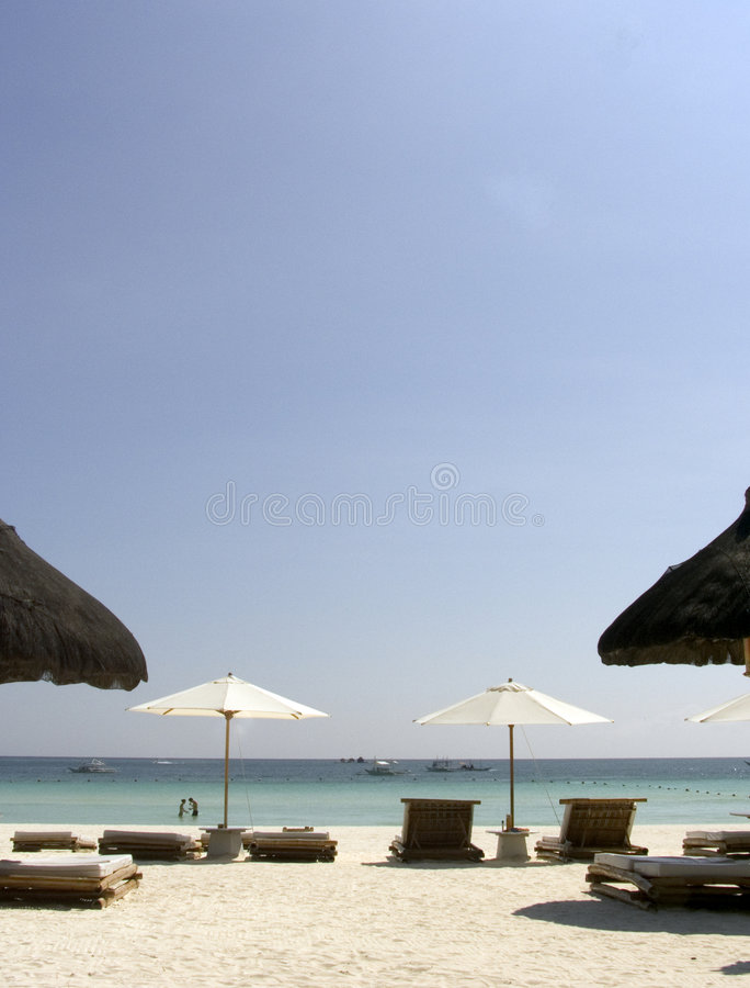 Plage de Boracay de la plage image stock