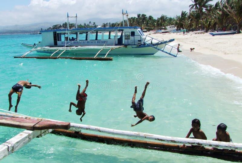 Plage de Boracay-le de Philippines photos libres de droits