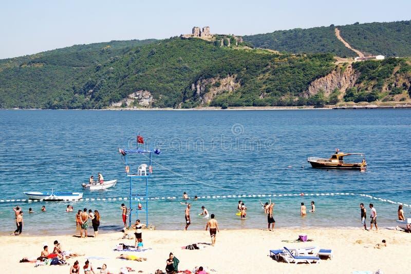 Plage de Bosporus image libre de droits