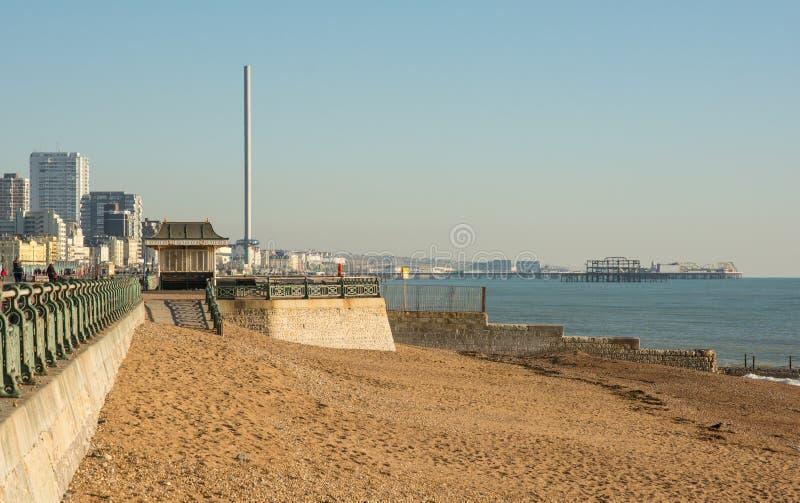 Plage de Brighton et bord de mer, le Sussex, Angleterre photo libre de droits