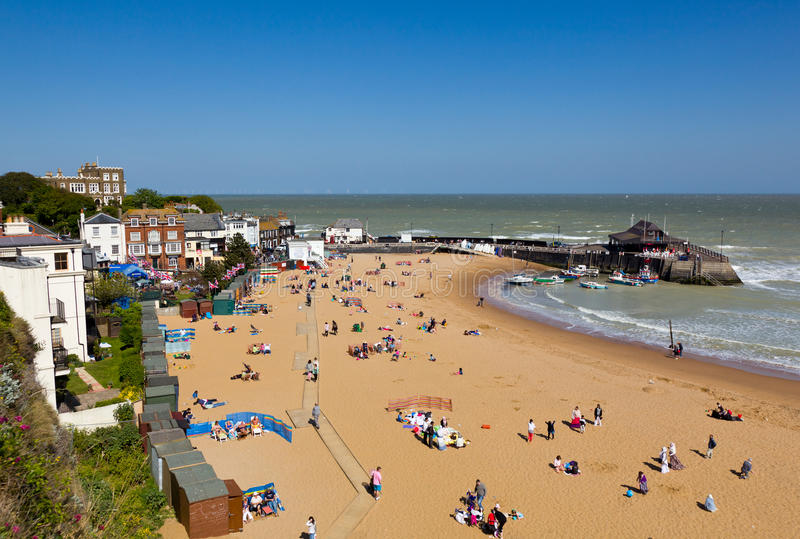 Plage de Broadstairs dans Kent photos libres de droits