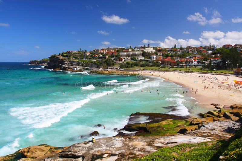 Plage de Bronte à Sydney, Australie photographie stock libre de droits