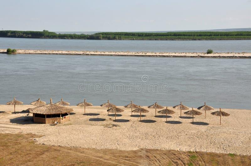 Plage de côte de Danube photo stock