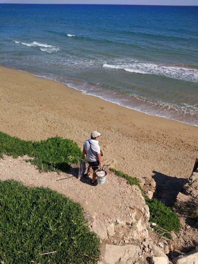 Plage de côté de la Turquie Antalya Manavgat photos libres de droits