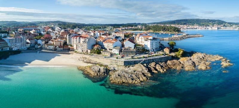 Plage de Caneliñas dans le Rias Baixas à Pontevedra photo stock