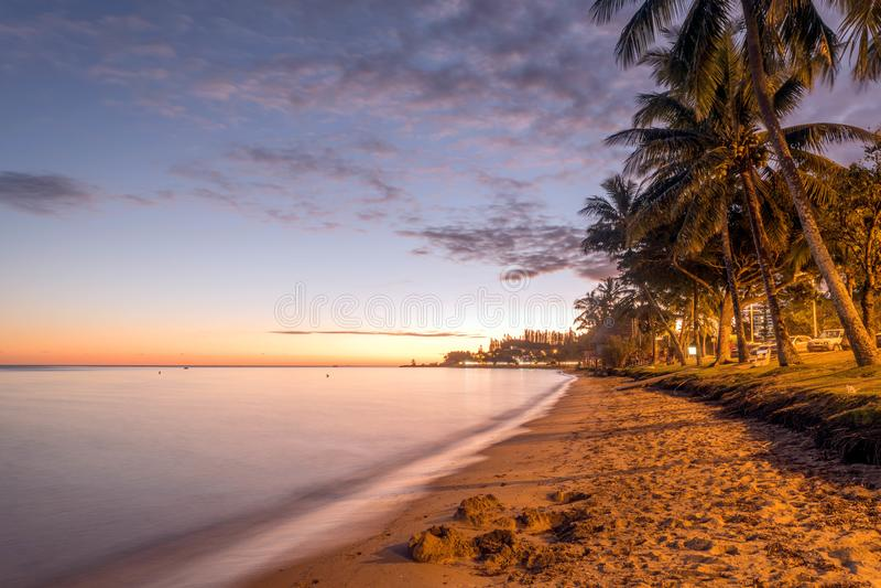Plage de Castelo Royale em Nova Caledônia foto de stock royalty free