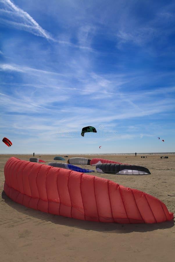 Plage De Cerf-volant Photographie stock libre de droits