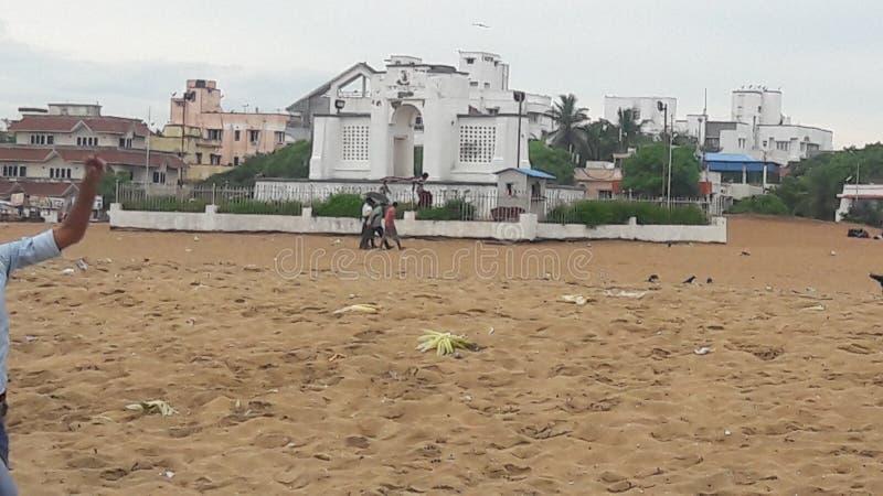 Plage de Chennai image stock