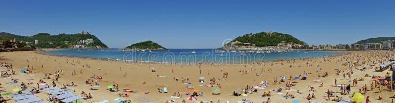 Plage de conque de La Donostia-San Sebastian pays Basque Gipuzkoa l'espagne images stock
