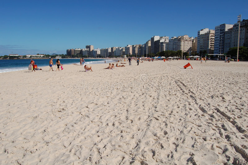 Plage de Copacabana photo stock