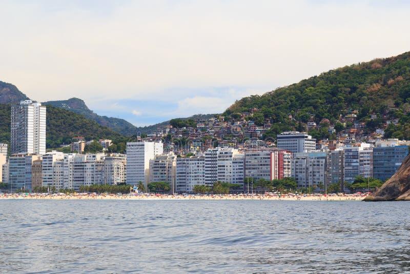 Plage de Copacabana Leme, favela, Rio de Janeiro photos libres de droits