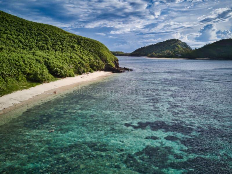 Plage de corail - baie de Mantaray image libre de droits