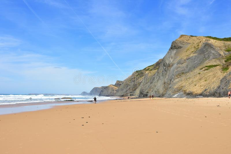 Plage de Cordoama, Vila do Bispo, Algarve, Portugal photographie stock