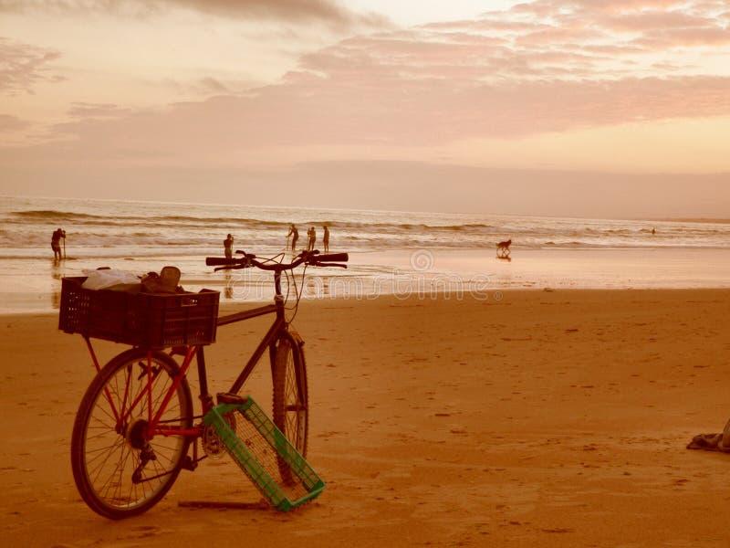 plage de coucher du soleil image stock