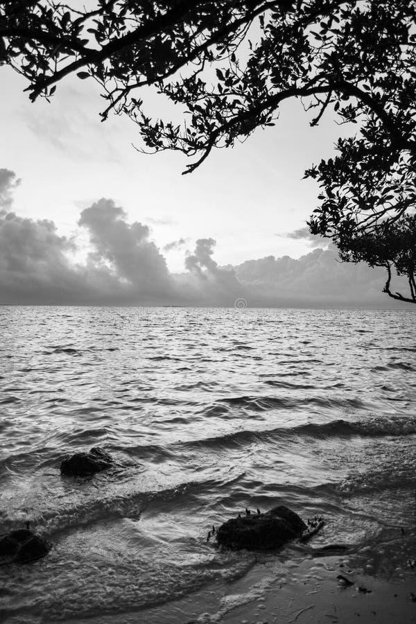 Plage de coucher du soleil, la Floride photographie stock
