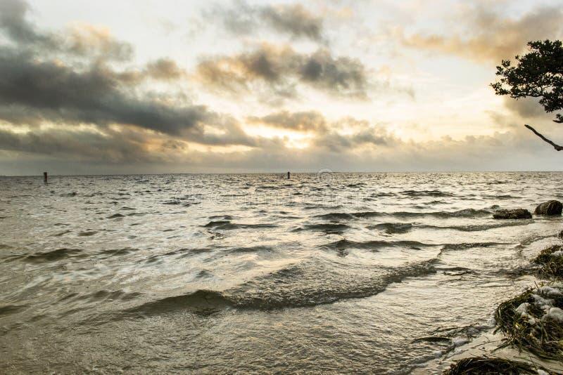 Plage de coucher du soleil, la Floride photo stock
