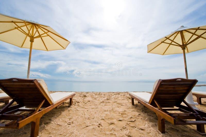 Plage de destination de vacances photographie stock libre de droits
