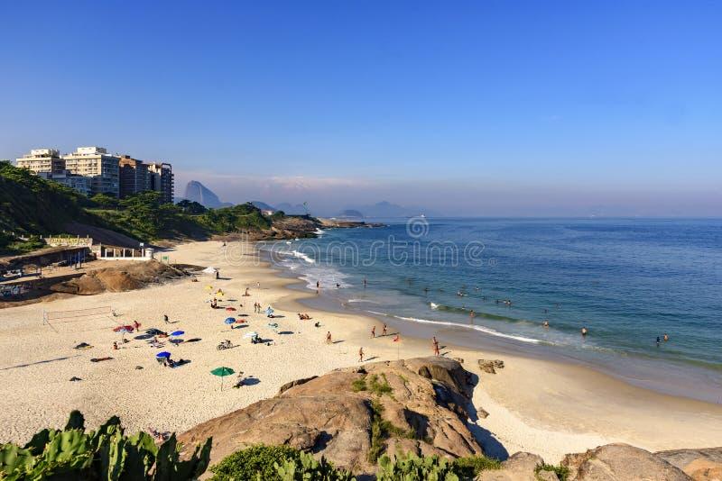 Plage de diable, Ipanema, Rio de Janeiro image libre de droits