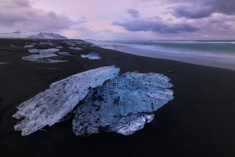 Plage de diamant en Islande photographie stock libre de droits